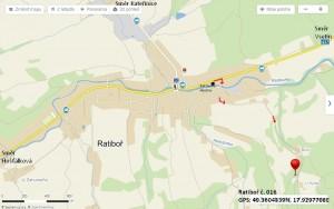 Mapa Škrlovi Ratiboř